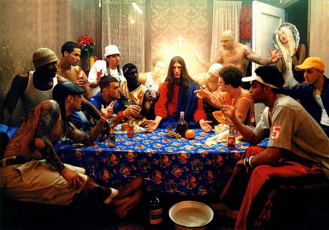 David La Chapelle, Last Supper, série « Jesus Is My Homeboy », photographie, 2003 © DR