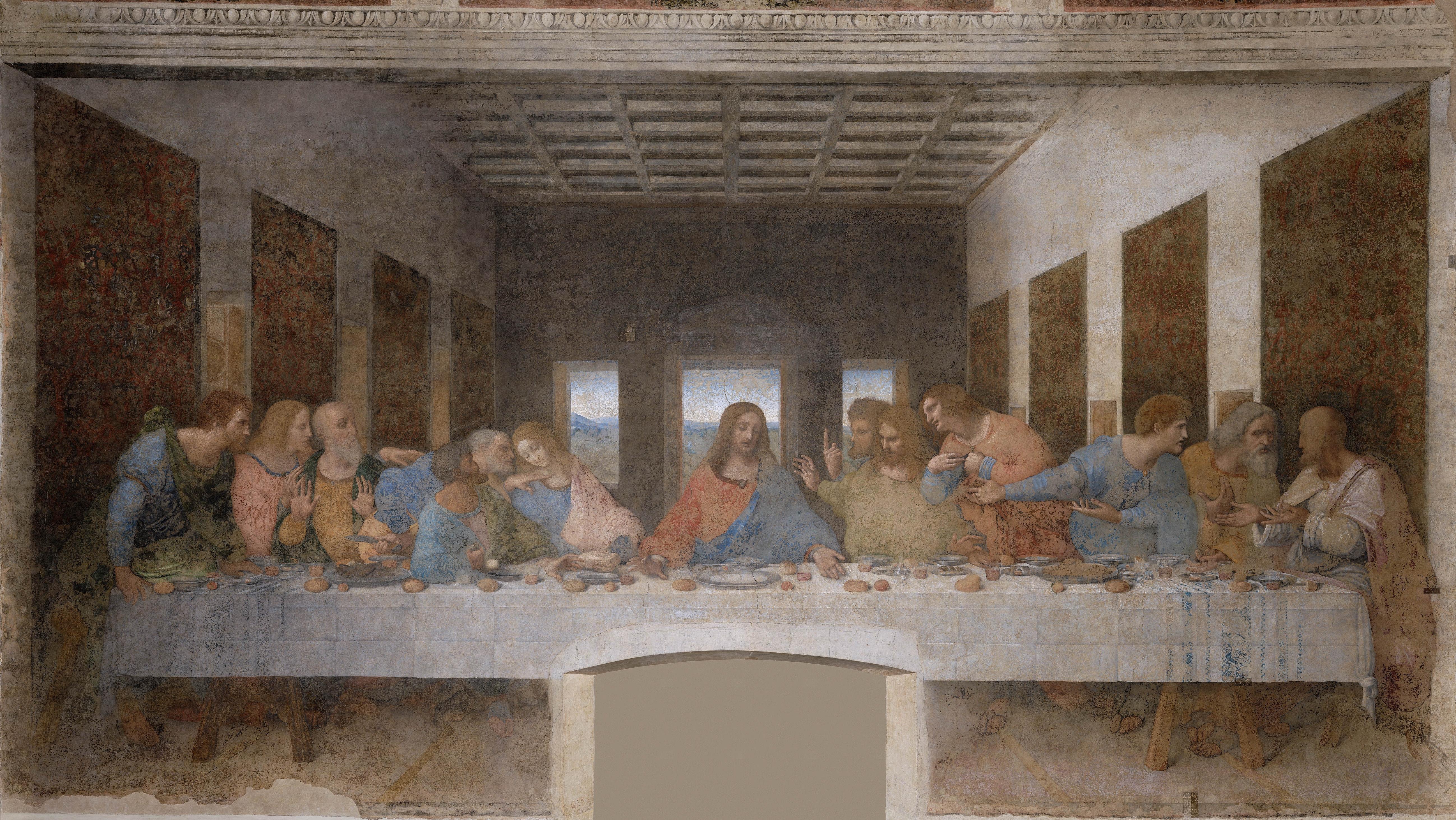 Léonard de Vinci, La Cène, 1498, fresque, Santa Maria delle Grazie à Milan © DR