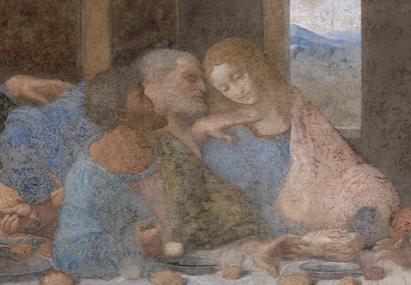 La cène, par Léonard de Vinci, 1494-1498, fresque, Église Santa Maria delle Grazie de Milan © Wikimedia