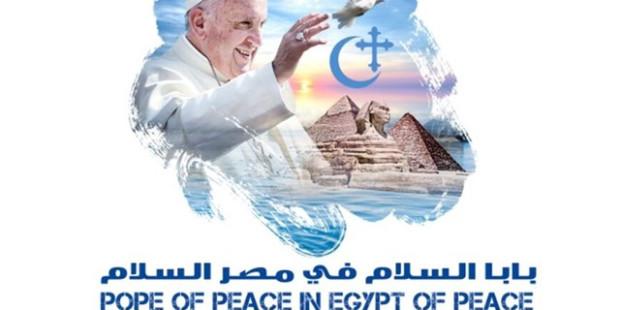 Logo de la visite du pape François en Égypte, les 28 et 29 avril 2017.