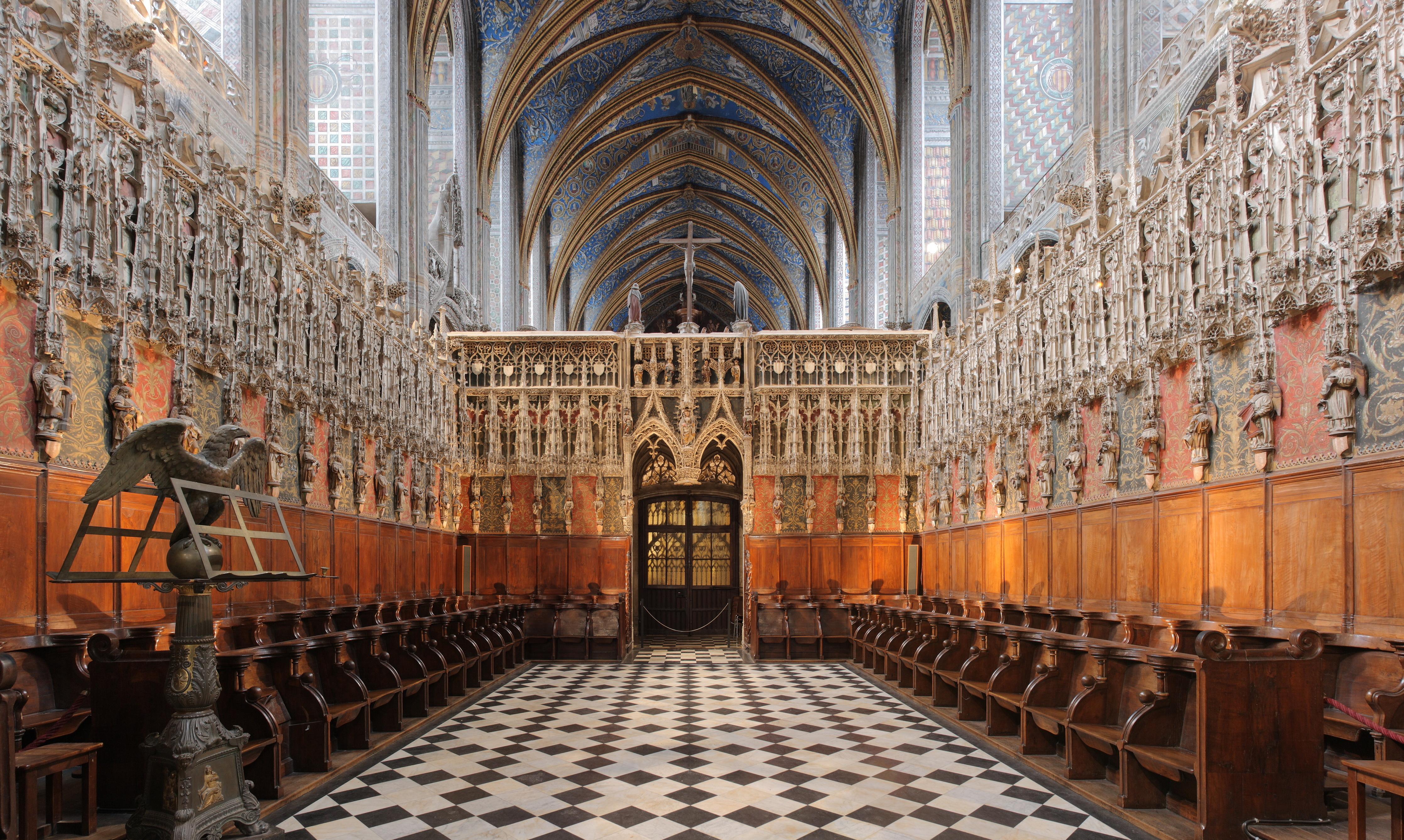 Chœur de la cathédrale Sainte-Cécile d'Albi.
