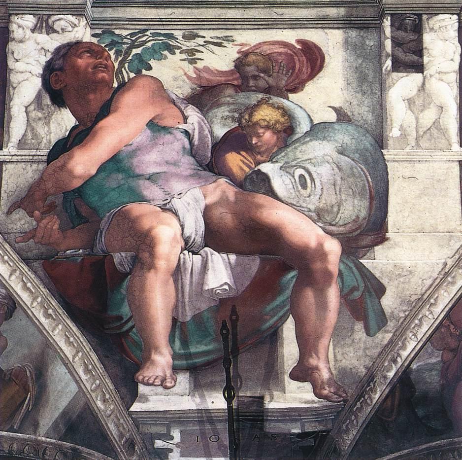 Poisson dans l'art, Michel Ange,chapelle sixtine