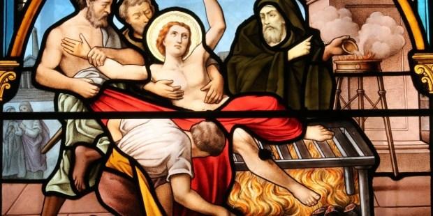 Les martyrs de l'Eglise primitive - À lire ! Merci mon Dieu de pouvoir encore professer notre foi ♥ - Page 2 Saint-Laurent-de-Rome